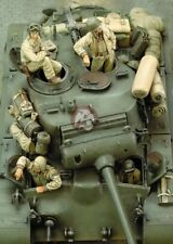 1/35 M26 Pershing Heavy Tank Crew WWII (4 Figures no tank) resin model
