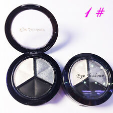 Pro Smoky Makeup 3 Colors Natural Matte Eyeshadow Shimmer Eye Shadow Palette w/