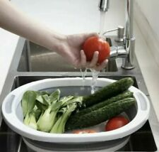 2 IN 1 COLLAPSIBLE BASIN/CHOPPING BOARD MULTI-FUNCTION SILICONE WASHING BUCKET