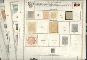 AFGHANISTAN,  Excellent assortment of Stamps hinged on Minkus