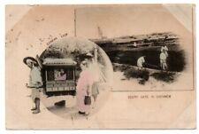 Korea Korean Coree Corean Lady South Gate Men Man Chemulpo Postmark Postcard