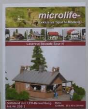 Grillstand inkl. LED-Beleuchtung  - von Microlife Lasercut Bausatz 1:160 Spur N