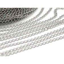 5Meter Jewelry Findings Stainless Steel  silver plated High Quality Extend Chain