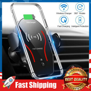 Wireless 10W Qi Fast Charger Car Mount  Air Vent Phone Holder for Phone