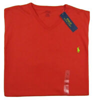 NWT Polo Ralph Lauren Classic V-Neck Red Cotton Tee Men's Size 1XB Big & Tall