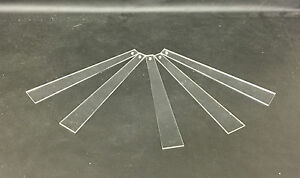 Five Clear Acrylic Earring Testers Jewellery Displays