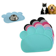 New Silicone Pet Feeding Mat Non Slip Food Feed Dish Bowl Placemat Dog Cat Puppy