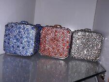 HARLEM CARTER Swarovski Crystal Evening box Clutch Shoulder Bag New RRP £310.00
