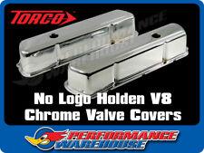 NO LOGO HOLDEN V8 253 308 CHROME STEEL VALVE/ROCKER COVERS TALL DESIGN PAIR