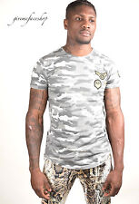 Time is Money grey star t shirts, g mens hip hop tees camouflage grey military