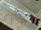 Vintage Painted 29 Inch Hand Saw With A Winter Scene. Bob Ross Taught Artist.
