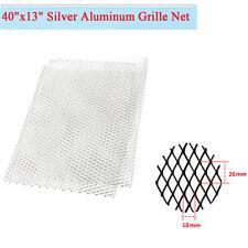 100cm×33cm Rhombus Silver Aluminum Grille Net for Car Hood Vent Radiator Bumper