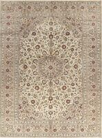Floral Ivory & Beige Oriental Handmade Wool Area Rug Traditional Carpet 8 x 11