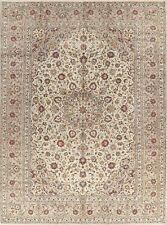 Floral Ivory & Beige Oriental Handmade Wool Area Rug Traditional Carpet 8 x 11