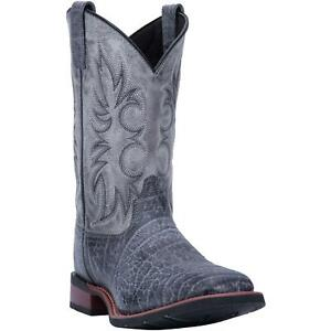 """Laredo Durant 7836 Mens Grey Leather 11"""" Western Boots"""