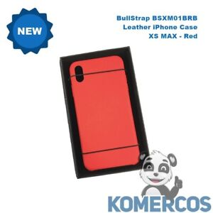 BullStrap BSXM01BRB,  Leather iPhone Case - XS MAX , Red