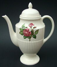 Wedgwood Moss Rose T432 Pattern 1.5pints Coffee Pot & Lid 21.5cmh - Looks in VGC