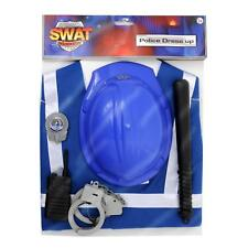 6 PIECE KIDS POLICEMAN / POLICE TEAM ROLE PLAY FANCY DRESS OUTFIT COSTUME + TOYS