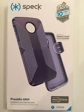 Speck Presidio Grip Series Case Cover for Motorola Moto Z2 Force - Marine Blue
