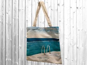 Designer Canvas Tote Bag Printed Bondi FREE POSTAGE