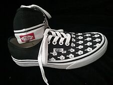 Vans Customs Middle Finger White Glove Mickey Black And White Women's Size 6