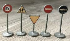 Set Of 5 Dinky Toy Road Signs