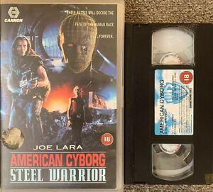 AMERICAN CYBORG STEEL WARRIOR :JOE LARA-VHS VIDEO BIG BOX EX/RENTAL.