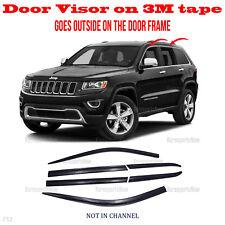 3M Tape Smoke Door Window Vent Visor Deflector 2015-2018 for JEEP GRAND CHEROKEE