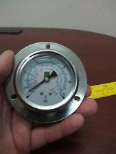 25 Stainless Liquid Filled Gauge 1 12 Bar 14 Npt Steampunk R404a R507 R22