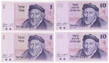 Mix Of Israel 1 & 10 Lirot | Bank Notes | Pennies2Pounds