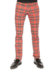 TRIPP PUNK ROCK STAR GOTHIC EMO RED PLAID TOP CAT ROCKER JEAN PANTS IS7754P