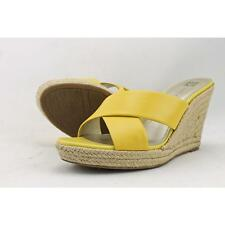 Anne Klein Waleigh Women US 9 Yellow Wedge Heel Pre Owned  1320
