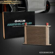 15 ROW  AN-10 10AN Universal Engine Transmission Oil Cooler Gold