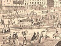 Louisville Kentucky Wharf invasion attack civil war 1862 historical print