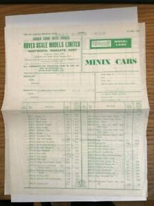 Triang Model Land Order and Price Leaflet Mint 1st May 1952