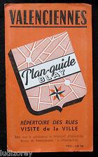 VALENCIENNES PLAN 1960 GUIDE BLAY CARTOGRAPHIE RUE VILLE NORD PAS DE CALAIS 59