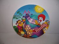 "1998 McDonald's 9 1/2"" Easter Plate Ronald Decorating An Easter Egg w/ Grimace"