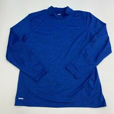 Unipro Shirt Mens XXL Blue Mock Neck Long Sleeve Casual Workout