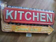 Retro Kitchen Metal Sign Corrugated Tin