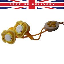Garfield Character Orange Silicone Rubber In-Ear Earphones Earbuds Headphones