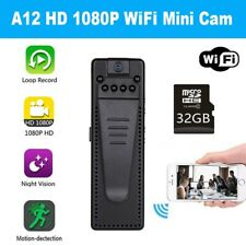 Full HD WIFI Body Camera Video Audio Recorder Night Vision APP  w/ 32GB Card