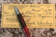 Angela Lansbury Check Autograph SIGNED GA COA JSA