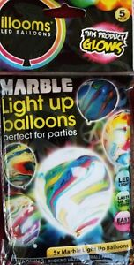 Illooms Marble Balloons - 5 Pack Light up Balloons