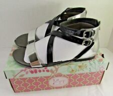 Jellypop Womens Shoes Sz 9.5M Black Silver Smooth CANNA JJFOSM  W BOX MSRP $45