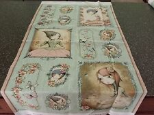 Mirabelle Picture Patch Panel 23x42 by Santoro for Quilting Treasures Sage