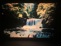 Vtg. 1970's Framed Light Up Motion Waterfall Moving Wall Art Electric Picture !