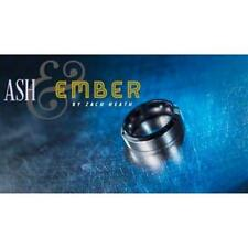 Ash and Ember Silver Beveled Size 7 (2 Rings) by Zach Heath - Magic Tricks