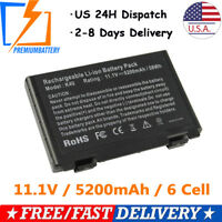 5200mah Battery For Asus X65 X70 K50 K51 K60 K61 L0A2016 L0690L6 A32-F82 A32-F52