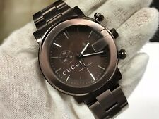 Gucci 101M G-Chrono  YA101341 Brown Stainless Steel Watch