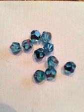 10 6mm Aqua Marine AB Facetted Glass Beads L@@K SALE #6